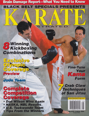 Karate Illustrated August 2000 Magazine (Preowned) - Budovideos Inc