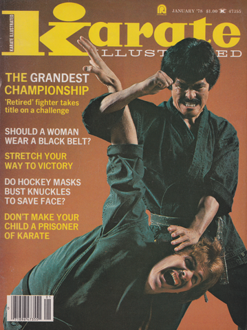 Karate Illustrated Jan 1978 Magazine (Preowned) - Budovideos Inc