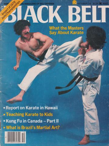 Black Belt Magazine Oct 1978 (Preowned) - Budovideos Inc