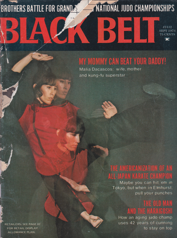 Black Belt Magazine Sept 1974 (Preowned) (Damaged) - Budovideos Inc