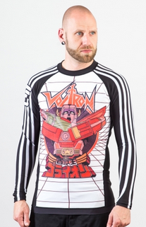 Voltron Beast King BJJ Rashguard - WHITE (Officially Licensed) - Budovideos