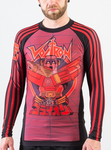 Voltron Beast King BJJ Rashguard - RED (Officially Licensed) - Budovideos Inc