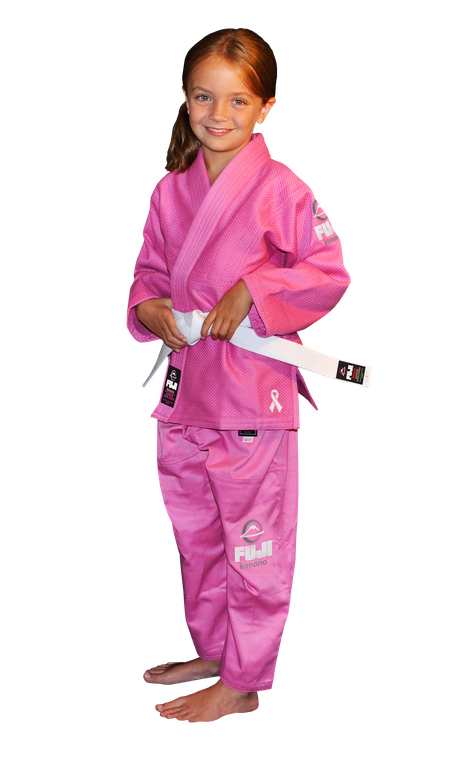 All Around Kids BJJ Gi Pink by Fuji - Budovideos