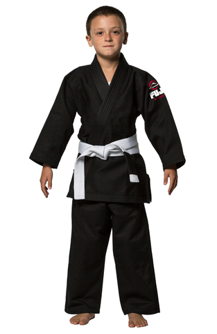 Fuji Childrens BJJ Uniform - Black - Budovideos Inc