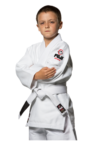 Fuji Childrens BJJ Uniform - White - Budovideos Inc
