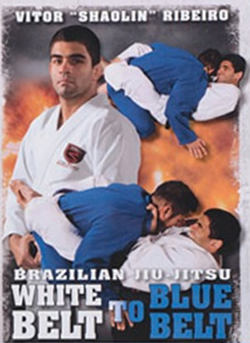 "Brazilian Jiu-Jitsu White Belt to Blue Belt 8 DVD Set with Vitor ""Shaolin"" Ribeiro"