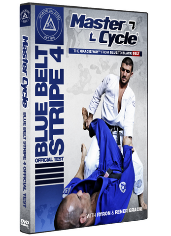 Gracie Academy Master Cycle: Blue Belt Stripe 4 DVD Official Test - Budovideos Inc