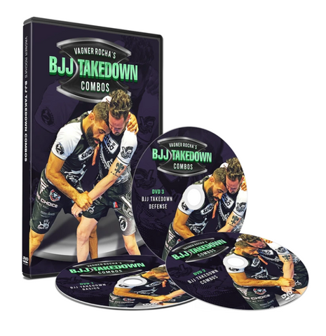 BJJ Takedown Combinations 3 DVD Set by Vagner Rocha
