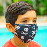 Defender PRO Antibacterial Mask (Halloween Skeletons) includes 3 N95 Filters - Made in USA - Budovideos