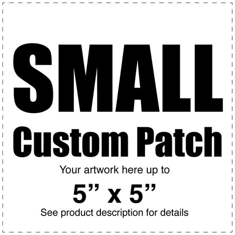 "Custom Full Color Canvas Patch – White – Small 5""  x 5"" - Budovideos"