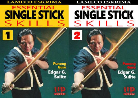 Lameco Eskrima Essential Single Stick Skills 2 DVD Set by Edgar Sulite - Budovideos