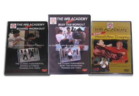 IMB Academy 3 DVD Set Boxing, Muay Thai, Jeet Kune Do by Richard Bustillo - Budovideos