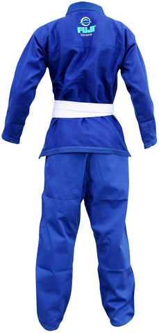 Back - Kid's Blue Blossom BJJ Gi by Fuji