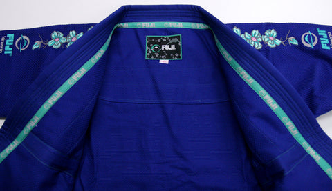 Lapel - Women's Blue Blossom BJJ Gi by Fuji