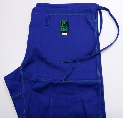 Pants Side - Women's Blue Blossom BJJ Gi by Fuji