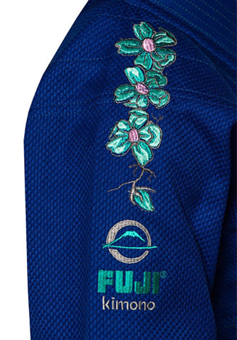 Cherry Blossom Flowers - Kid's Blue Blossom BJJ Gi by Fuji