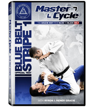 Gracie Academy Master Cycle: Blue Belt Stripe 1 DVD Official Test - Budovideos Inc
