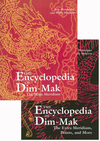 Encyclopedia of Dim Mak 2 Book Set by Erle Montaigue (Hardcover) (Preowned)
