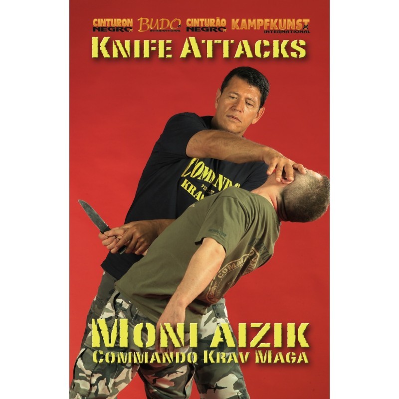 Commando Krav Maga Knife Attacks DVD by Moni Aizik - Budovideos
