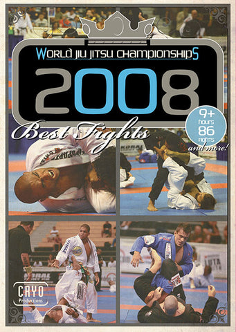 Best Fights of the 2008 Jiu-jitsu World Championships 3 DVD Set - Budovideos