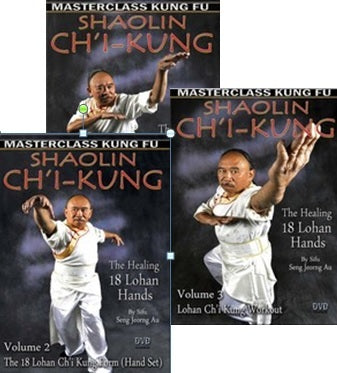 Chi Kung - The Healing 18 Lohan Hands 3 DVD Set by Seng Jeorng Au - Budovideos Inc