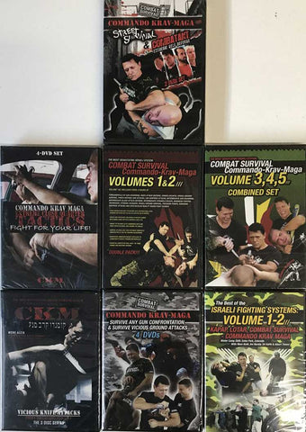 Commando Krav Maga Complete Library 20 DVD Set with Moni Aizik
