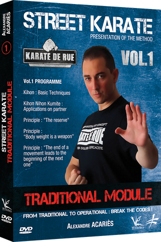 Street Karate Vol 1 - Traditional Module DVD by Alexandre Acaries - Budovideos Inc