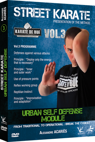 Street Karate Vol 3 - Urban Self Defense Module DVD by Alexandre Acaries - Budovideos Inc