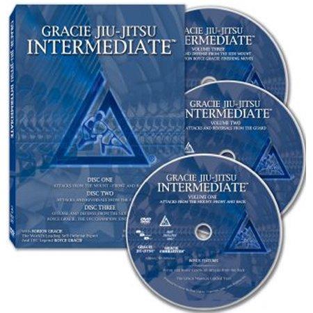Gracie Jiu-Jitsu Intermediate 3 DVD Set with Rorion & Royce Gracie (Preowned) - Budovideos
