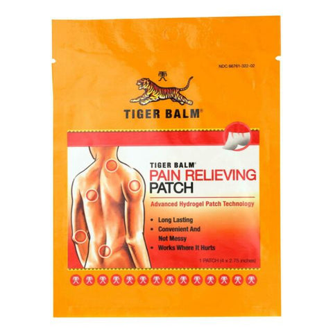 "Tiger Balm Pain Relieving Small Patch 4""x2.75"" - Budovideos"