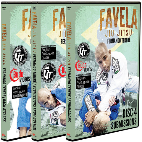 Favela Jiu Jitsu Vol 4-6 Submissions by Fernando Terere 3 DVD Box Set - Budovideos Inc