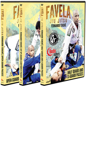 Favela Jiu Jitsu Vol 1-3 Guard Passing by Fernando Terere 3 DVD Box Set - Budovideos