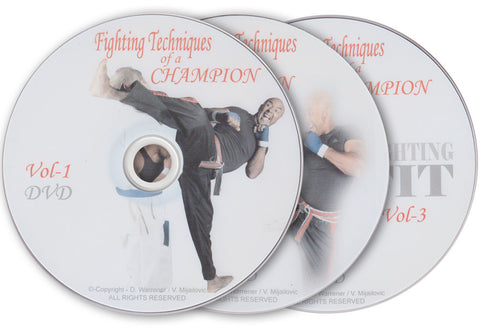Fighting Techniques of a Champion 3 DVD Set by Kevin Brewerton - Budovideos