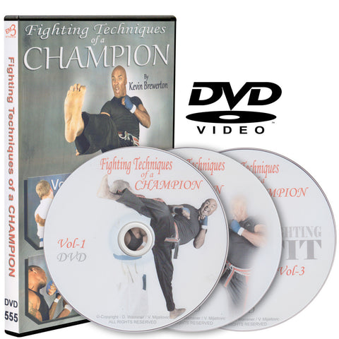 Fighting Techniques of a Champion 3 DVD Set by Kevin Brewerton