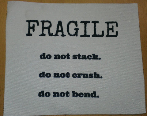 Fragile Small Custom Patch 3
