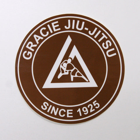 Gracie Academy Official Sticker - Brown