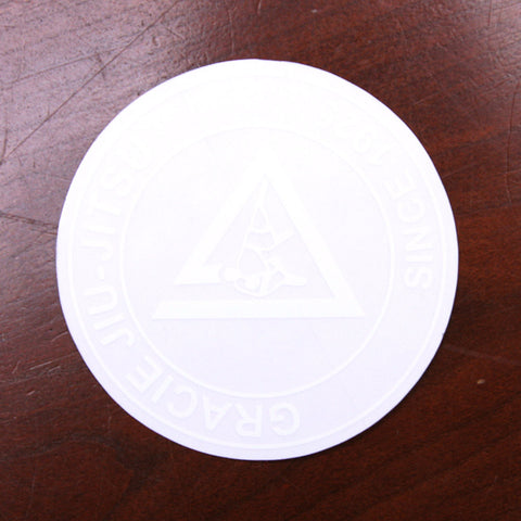 Gracie Academy Official Sticker - Clear