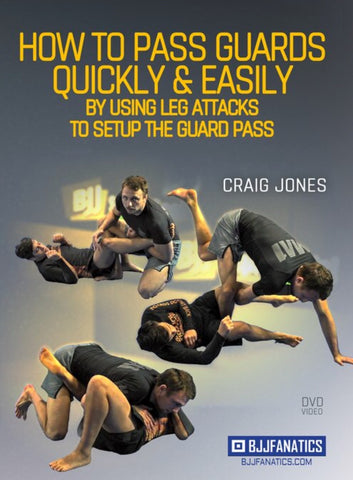 How to Pass Guards Quickly & Easily 2 DVD Set by Craig Jones