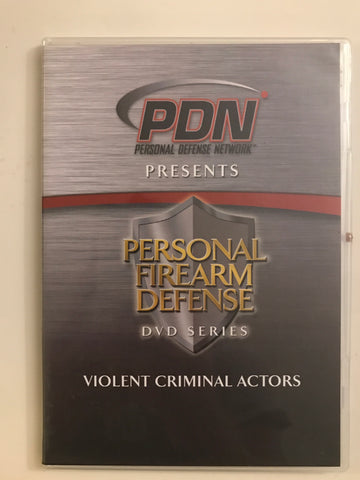 Personal Firearm Defense: Violent Criminal Actors DVD by Rob Pincus (Preowned) - Budovideos