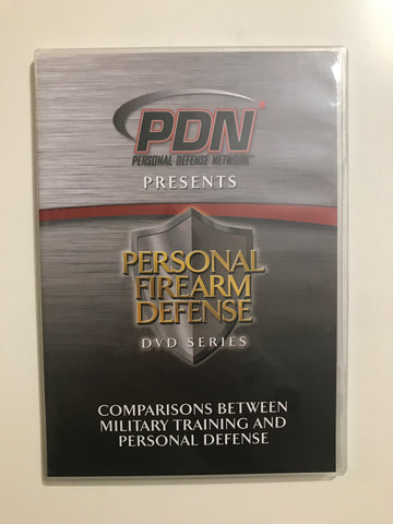Personal Firearm Defense: Comparisons Between Military Training & Personal Defense DVD by Rob Pincus (Preowned) - Budovideos