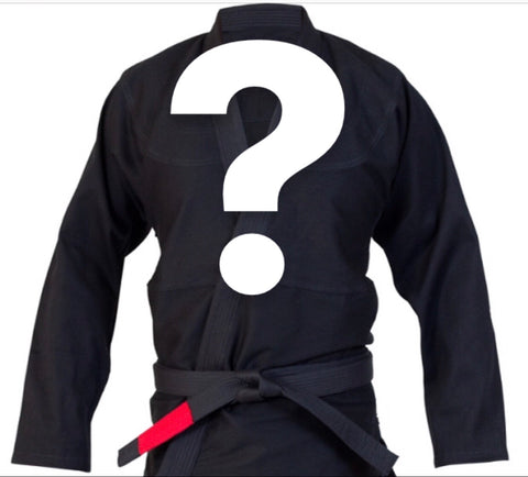 Mystery BJJ Gi Adult and Children's Sizes - BLACK - Budovideos