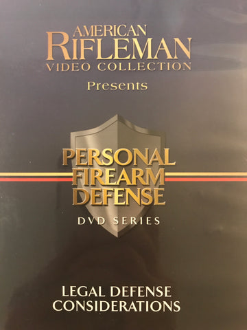 Personal Firearm Defense: Legal Defense Considerations DVD by Rob Pincus (Preowned) - Budovideos Inc