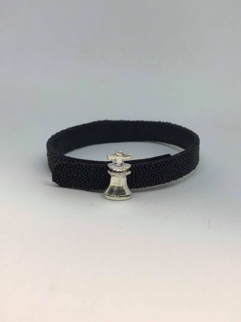 The King Black Belt Bracelet by NxS Design
