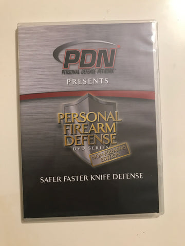 Personal Firearm Defense: Safer Faster Knife Defense DVD by Rob Pincus & Alessandro Padovani (Preowned) - Budovideos