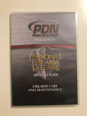 Personal Firearm Defense: Firearm Care & Maintenance DVD by Rob Pincus (Preowned) - Budovideos