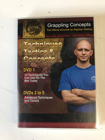 Grappling Techniques, Tactics & Concepts 5 DVD Set by Stephen Kesting (Preowned)