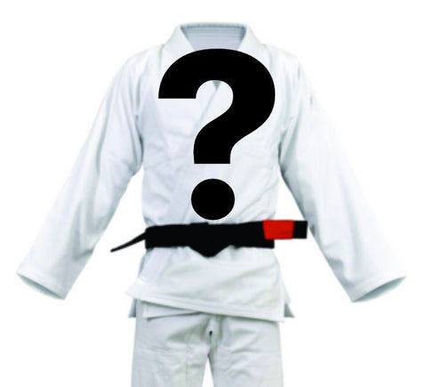 Mystery BJJ Gi Adult and Children's Sizes - WHITE - Budovideos