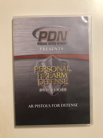 Personal Firearm Defense: AR Pistols for Defense DVD by Rob Pincus (Preowned) - Budovideos