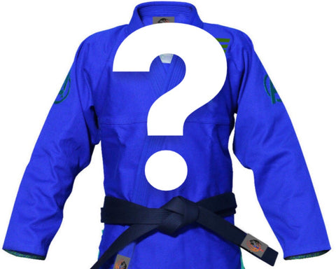 Mystery BJJ Gi Adult and Children's Sizes - BLUE OR NAVY - Budovideos