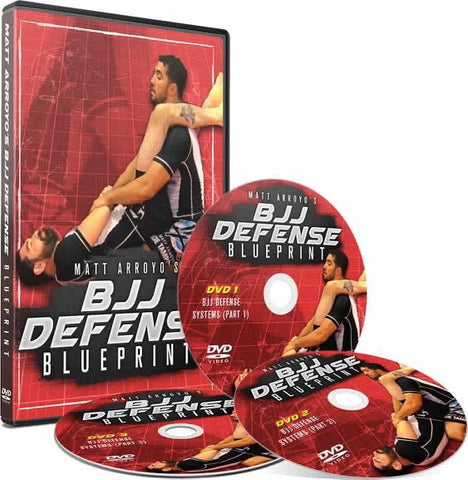BJJ Defense Blueprint 3 DVD Set with Matt Arroyo - Budovideos Inc